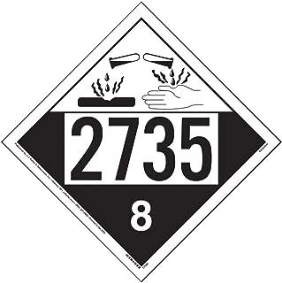 2735 Placard, Class 8 Corrosive 25-pk. - 10.75