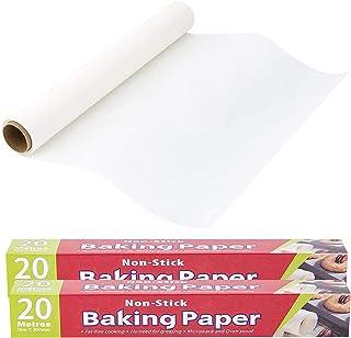 FYY 130 SQ FT Parchment Paper Roll, Non-Stick Baking Parchment Roll, 2 Boxes of 12 in X 66 ft Baking Paper for Kitchen, Ai...