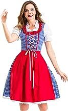 Goddessvan Women Costumes for Halloween Carnival Cosplay Vintage Skirt German Bavaria Maid Dress