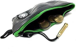 KLEIN Geldbeutel in vielen Farben | Kleiner Geldbeutel Herren | Hergestellt aus Recycelten Fahrradschlauch | Super Weich  Extrem Langlebig ApfelGrün/Apple Green, Muster: Flicken