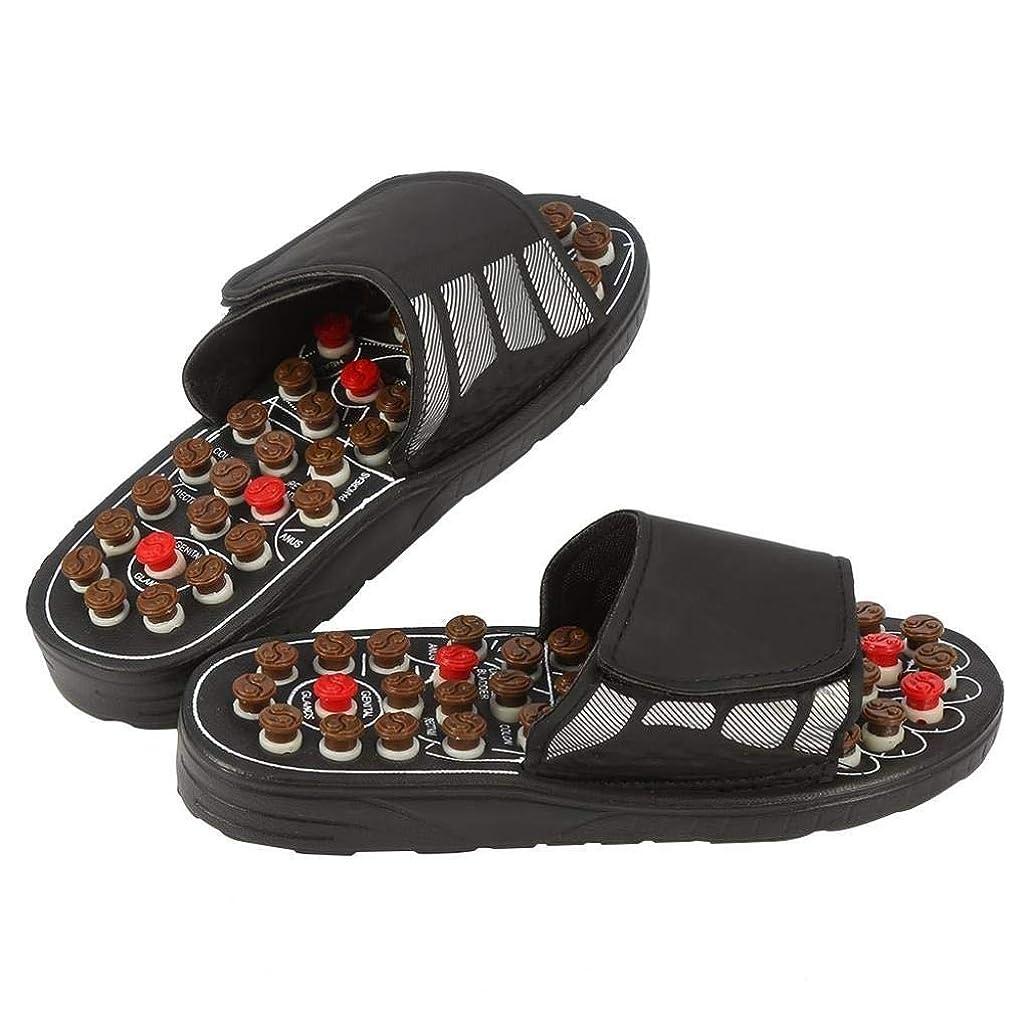 豚肉クリケット機械的磁気マッサージインソール、指圧靴マッサージ効果インソール健康足医療援助足リフレクソロジーは、血液循環疲労を促進します (Color : 黒, Size : 40-41)