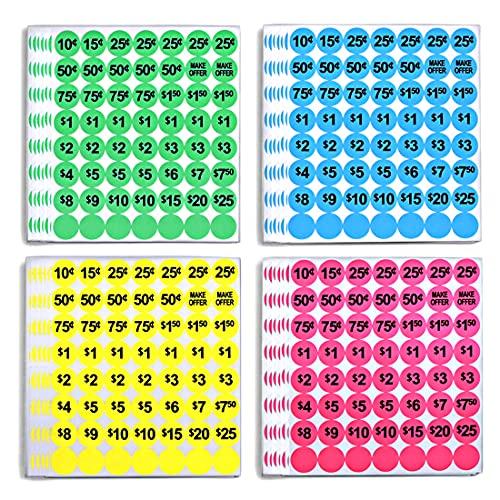 GILLRAJ MILAN Yard Garage Sale Price Stickers 0.75