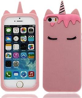coque telephone iphone 5 c licorne rose