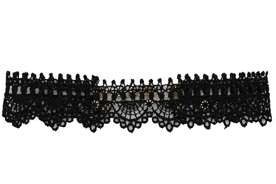 囲いインキュバステーブルTFjレディースファッションチョーカーネックレスブラックファブリックレースセクシースタイル+イヤリングセット