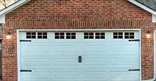 Magnetic Panels for Car Garage Door Decoration Fake Faux Windows (Color Black /2 Car Garage Kit) 32 Small Panels