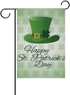 Saint Patricks Symbol Seasonal Holiday Garden Yard Flag Banner 12 x 18 inches Decorative Flag for Home Indoor Outdoor Decor