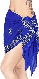 LA LEELA Bikini Maillot de Bain hawa/ïen Enveloppement par/éo Robe 78X39 des fant/ômes Blanc/_N331