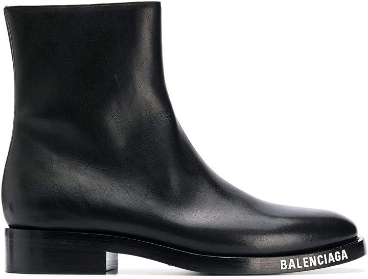 Stivaletti uomo nero pelle  balenciaga luxury fashion 590717WA6F01000