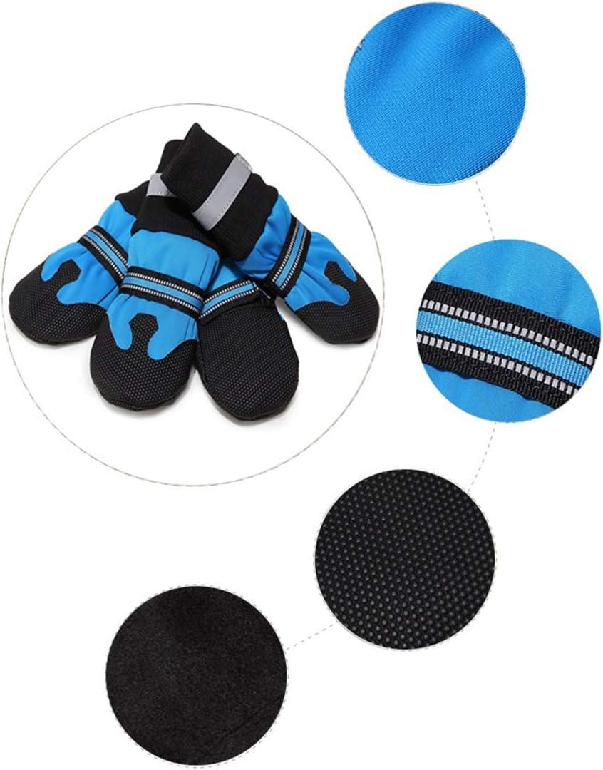 Calcetines Perro Zapatos Protector Suave /Único De La Pata Impermeables Calza Botas Antideslizantes Reflectantes Botas Duraderas para Perro Grande