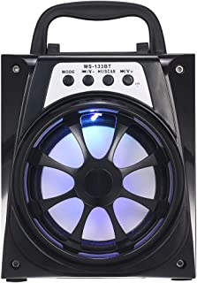 MS-133BT Portable Outdoor Speaker Colorful LED Light Super Bass Wireless Bluetooth Speakers FM Radio TF Card AUX IN U Disk...