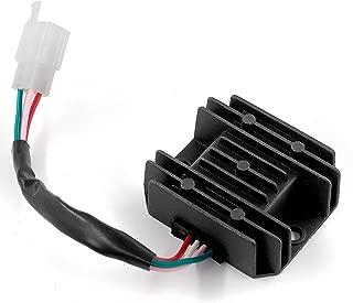Trkimal Rectifier Regulator 4 Wires Voltage for GY6 125cc 150cc 4 stroke 152QMI/157QMJ Engine,  Moped Scooter ATV Go Kart JCL NST Taotao