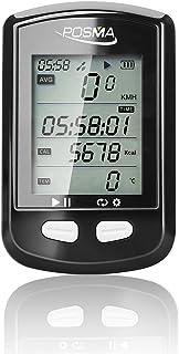 POSMA DB2 Bluetooth GPS サイクリング バイクコンピューター、速度計、オドメーター(積算距離計)、高度計、 カロリーメーター、温度計、ルートトラッキング機能、ANT+ がサポートするSTRAVAとMapMyRide、BLE...