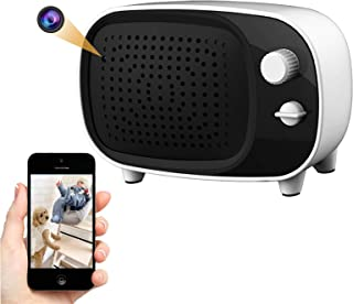 Hidden Camera WiFi Spy Camera Bluetooth Speaker, HD 1080P Security Cam Baby Monitor with Motion Detection Alarm and Night ...
