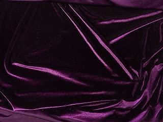 FWD Stretch Velvet Dark Purple 60 Inch Sold by The Yard