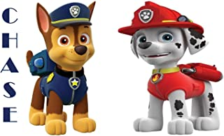 PAW Patrol - Chase & Marshall - For Light-Colored Materials - 2 Iron On Heat Transfers 5
