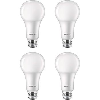 Philips Led 556936 3 Way A21 Flicker Free Light Bulb With Eyecomfort Technology 2150 1600 620 Lumen 2700k 18 5 13 6 150 100 50 Watt Equivalent E26 Base Soft White 4 Pack Title 20 Compliant Amazon Com
