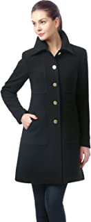 BGSD Women's Elizabeth Wool Blend Walking Coat (Regular & Plus Size)
