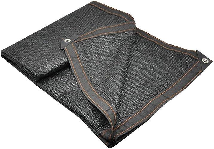 Renforcement des bords nets avec un trou en métal Un écran solaire durable Bonne ventilation de la fibre de polyester extérieure pleine d'entrain, 21 verges ( Couleur   noir , Taille   5x10m )