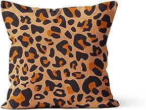 2-pack luipaard patroon linnen decoratie plein sierkussen kussensloop kussensloop kussensloop, sofa sofa bed stoel woondec...