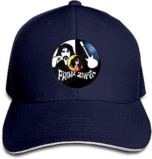 Frank Zappa Hip Hop Baseball Cap Golf Trucker Baseball Cap Adjustable Peaked Sandwich Hat Black Unisex Casquette White