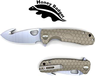 Western Active Honey Badger Pocket Knife Flipper EDC Knife for Hunting, Fishing, Tactical. Deep Pocket Carry Clip Gift Box with Torx Wrench