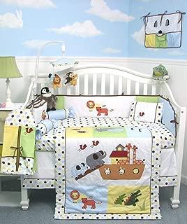 SoHo Baby Crib Bedding 10Pc Set, Noah Ark