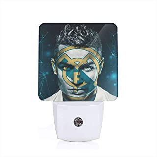 Greatest Football Player No.7 Jersey LED Night Light Dusk to Dawn Sensor Plug in Night Home Decor Desk Lamp for Adult