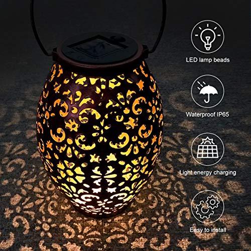 Solarleuchten Garten,VIFLYKOO LED Solarlampen Garten IP65 Wasserdichte Solar Wegeleuchten Laterne Gartenlicht Deko für Außen Garten, Terrasse, Patio, Hof und Wege