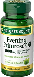 Nature's Bounty Evening Primrose Oil 1000 mg Softgels 60 ea ( Pack of 12)