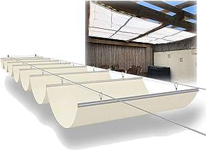 PENGFEI Intrekbare Pergola Luifel Schaduw Cover, Slide Wire Wave Zonnescherm Zeil, Outdoor Patio Vervanging Luifels voor Z...