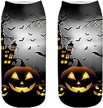 BXzhiri Christmas Socks Cute Casual Business Socks 3D Halloween Pumpkin Printing Socks Cotton Medium Sports Socks