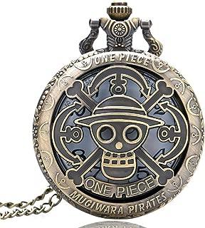Men's Pocket Watch, Antique Anime One Piece Theme Hollow Quartz Pocket Watch, Gift for Men Christmas Gift