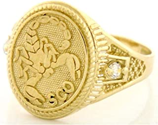 Best scorpio ring gold Reviews