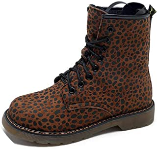 Winter Martin Boots Lace Up Woman Shoes Leopard Print High-top Ankle Casual Shoes Martin Boots