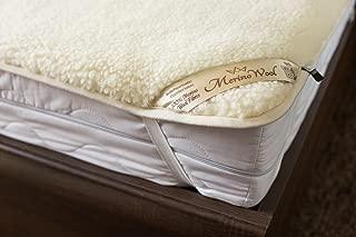 Sale ! Merino Wool Underblanket Wool Sheet Protector Mattress Topper Woolmark Under Blanket (90 x 200 cm)