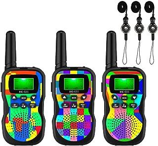 【2019 Model】 U'King Kids Walkie Talkies,4 Miles Range Walkie Talkies for Kids 10 Customized Ringtones with Flashlight for Outdoors Good Parenting Toys - 2 Packs (Black)