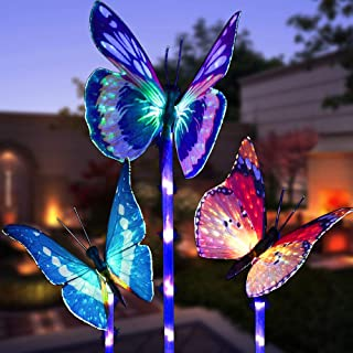 Best solar power flying color butterfly Reviews