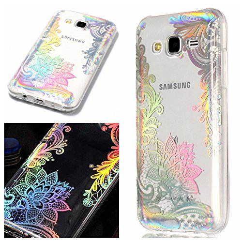 Galaxy J5 (2015) Hülle, MHHQ Kristall Funkeln Glitzer Holographic Laser Handyhülle Ultra Dünn Schutzhülle Silikon Transparent mit Muster Weich TPU Case Backcover für Samsung Galaxy J5 (2015) -9