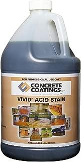 VIVID Acid Stain - 1 Gal - Mahogany (Deep Rust, Terra Cotta)