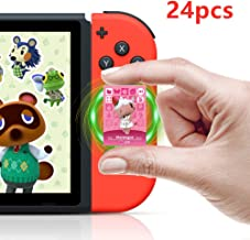 Animal Crossing New Horizons NFC Tag Game Cards for Switch/Switch Lite/Wii U 24pcs Mini Cards with Crystal Case