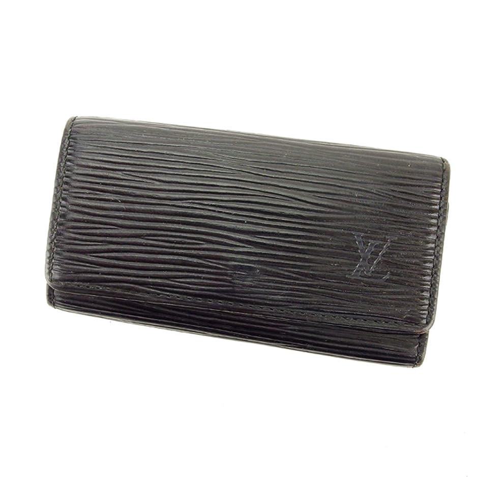 家庭教師言い換えると強調(ルイ ヴィトン) Louis Vuitton キーケース 4連キーケース ブラック 黒 ミュルティクレ4 エピ メンズ可 中古 T6348