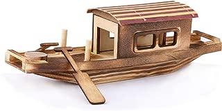 "Dedoot Boat Model Decor, Vintage Handmade Wooden Sailboat Model Wood Sail Ship Kit Nautical Decor 10""x3""(LxH) for Tabletop Ornament, Photo Props, Beach Ocean Theme Party"