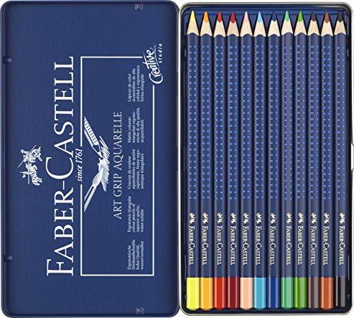 Faber Castell - Estuche 12 ecolápices acuarelables Art Grip Creative Studio