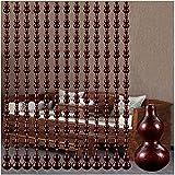 Cortina de cordón cortina Cortinas de madera Puerta Cortinas roscadas, Cortinas de perla de calabaza de melocotón, Sala de estar de entrada Pared separada, ventilación, polvo, personalizable