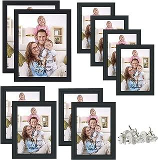 Giftgarden 10 Pcs Multi Picture Photo Frames Set for Multiple Size Photograph, Two 8x10, Four 4x6, Four 5x7, Black