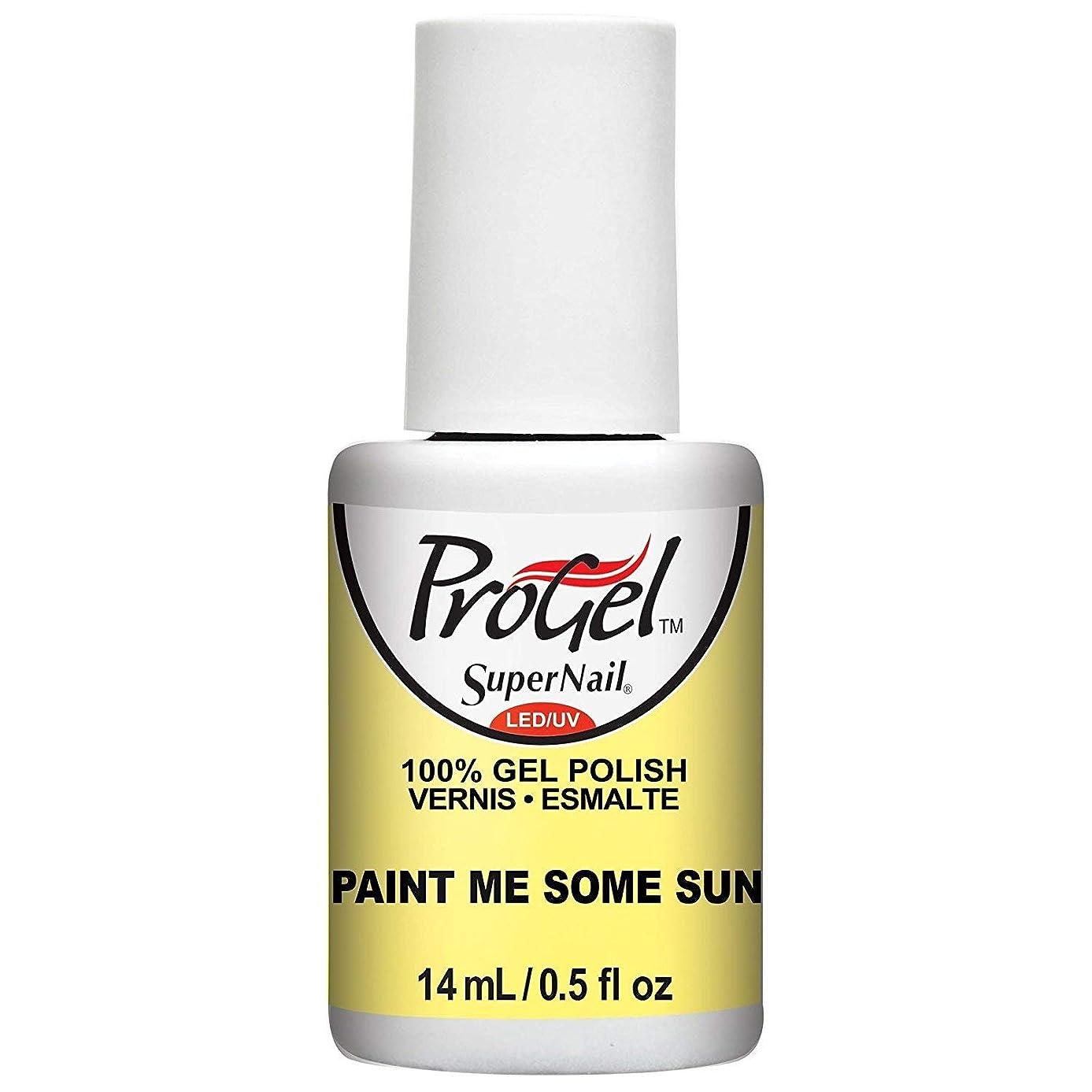 海嶺天国ライナーSuperNail ProGel Gel Polish - Paint Me Some Sun - 0.5oz / 14ml