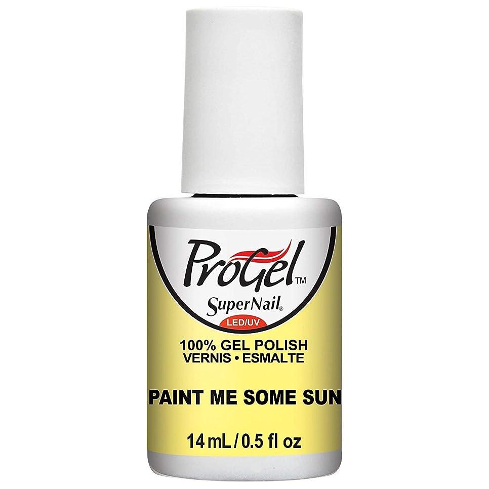 花嫁解決する頂点SuperNail ProGel Gel Polish - Paint Me Some Sun - 0.5oz / 14ml