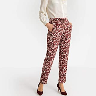 La Redoute Womens Printed Draping Slim Fit Trousers, Length 30.5
