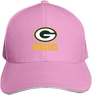 Green Bay Packers Bucket Hat Men's Baseball Cap Adjustable NFL Trucker Hat for Women Pink