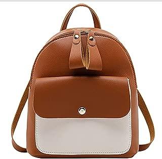 HMJZLyy Girls Mini Backpack Crossbody Shoulder Bag Large Capacity Backpack Leisure Bag (Color : Brown)